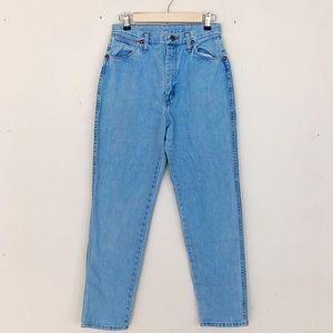 Vintage Wrangler High Waist Light Wash Mom Jeans